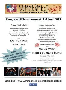 Program HCCC Summermeet 2017